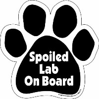 High Quality Paw Car Magnet, Spoiled Lab on Board, 5...