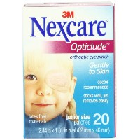 Nexcare Opticlude Orthoptic Eye Patches, Junior Size, 20-Count Boxes by Nexcare