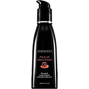 Wicked Sensual Care Aqua Lubricant, Cherry Cordial, 4 Fluid Ounce by Wicked Sensual Care