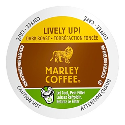 Marley Coffee, Lively Up!, Organic Espresso Roast, 24 Single Serve RealCups by Marley Coffee