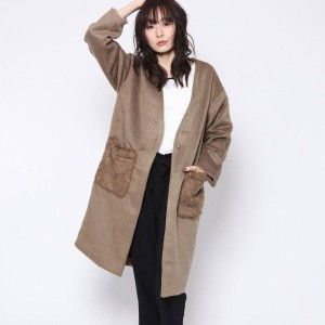 【SALE 25%OFF】ルーミィーズ  Roomy's OUTLET ポケットファーCT (ベージュ)
