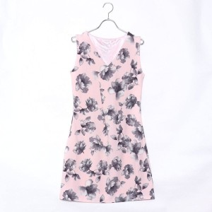 【SALE 70%OFF】ルーミィーズ  Roomy's OUTLET ふくれ花柄カットOP (ピンク)