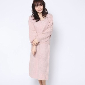 【SALE 63%OFF】ルーミィーズ  Roomy's OUTLET 2wayトップス+スカートOP (ピンク)