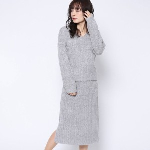 【SALE 63%OFF】ルーミィーズ  Roomy's OUTLET 2wayトップス+スカートOP (ライトグレー)