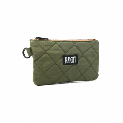 【 HAIGHT QUILTING POUCH (S) Olive 】 ( haight ヘイト キルティング ポーチ バッグ Quilting POUCH BAG )
