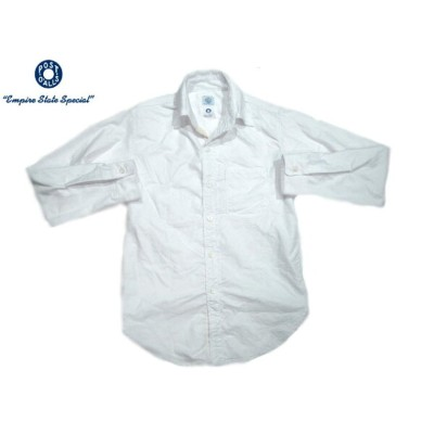 POST OVERALLS(ポストオーバーオールズ)/#2212 THE POST3 SOLID OXFORD SHIRTS/white
