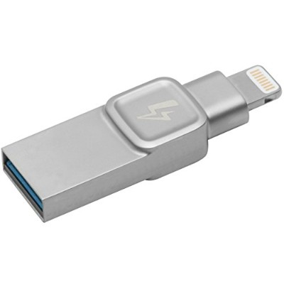 キングストン Lightning USBメモリ iPhone/iPad対応 MFi認証 128GB DataTraveler Bolt Duo C-USB3L-SR128-EN 2年保証