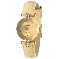 Jowissa ヨヴィッサ レディース腕時計 Women's J5.187.S Facet Strass Gold PVD Coated Stainless Steel Beige Patent...