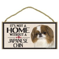 High Quality Wood Sign for Japanese Chin Dog Breeds
