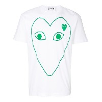Comme Des Garçons Play プリント Tシャツ - ホワイト