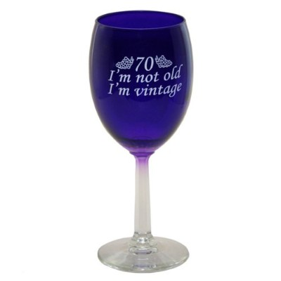 70 - I'm Vintage - Wine Glass - Funny 70th Birthday Gift - Made in USA