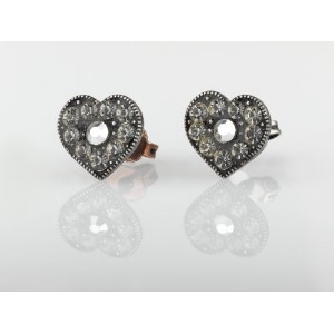Amaro Jewelry Studio 'Release' Collection Silver Plated Marvelous Heart Earrings Decorated with...