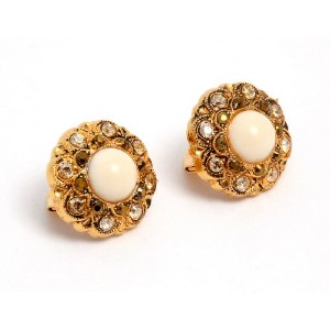 'Illumination' Collection 24K Yellow Gold Plated Designed by Amaro Jewelry Studio Dramatic Earrings...