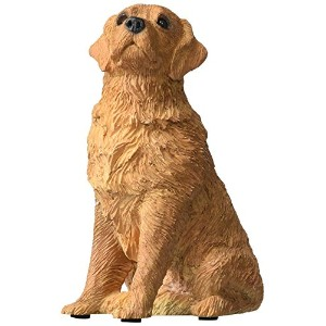 High Quality Mid Size Golden Retriever Sculpture, Sitting