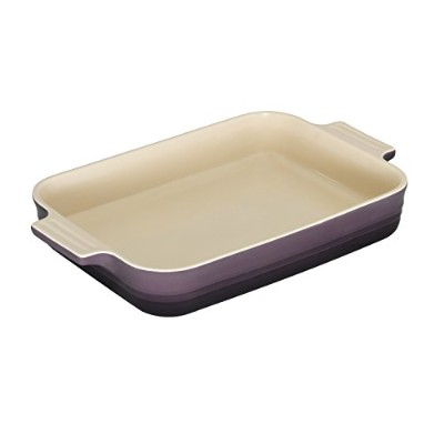 Le Creuset Stoneware 12–1/ 2-by-9–1/ 2インチ長方形Baking Dish, Cassis