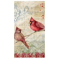 High Quality 16 Count, 3-Ply, Paper Dinner Napkin, Measures 4.75 x 8 - Winter Cardinal