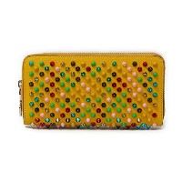 Christian Louboutin(クリスチャン・ルブタン) スパイク ラウンドファスナー長財布『Pantone Spike Zipped Continental Wallet』(Y073...