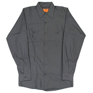 RED KAP(レッドキャップ)/LONG SLEEVE SOLID WORK SHIRTS(長袖ソリッドワークシャツ) M CH:チャコール(Charcoal)