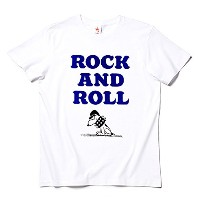 rockin'star★ Tシャツ ROCK AND ROLL SNOOPY [S]