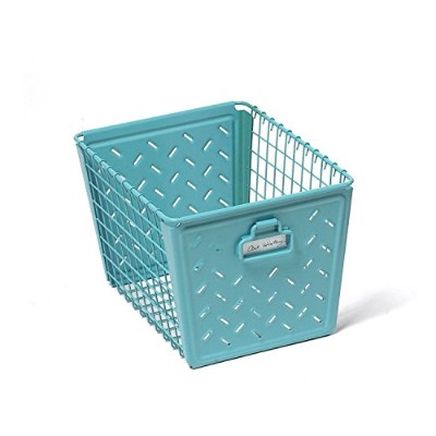 High Quality Macklin Medium Storage Basket, Teal