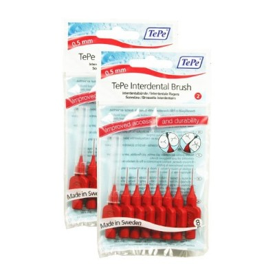 TePe 0.5 mm Size 2 Original Interdental Brush - Total 16 by TePe
