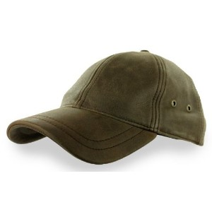 (ステットソン キャップ) Stetson Mens Antiqued Leather Oily Timber Baseball Cap