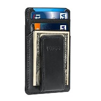 (レザーマネークリップ) LOPOO Money Clip Wallet Window Wallet [11.4 x 7.5 cm] Leather Card Wallet...