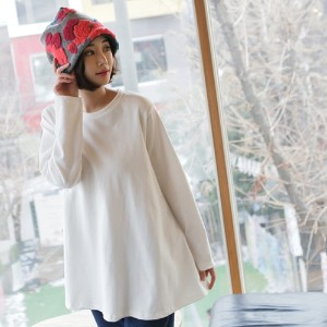 [zoozoom] A-line round napping t-shirt 5color / 28571