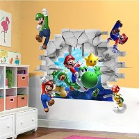 [アメリカ直送]Zhigao Super Mario Removable Bros Kids Room Games Wall Sticker Decals Home Decor VinylL
