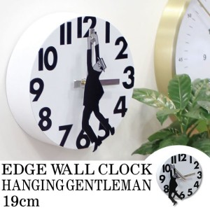 【送料無料】 壁掛け時計 EDGE WALL CLOCK HANGING GENTLEMAN 19CM TELR1190WH