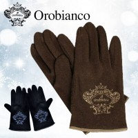 Xmasギフト対応可 【国内発送/送料無料】【Orobianco/オロビアンコ】羊革 カシミア 手袋
