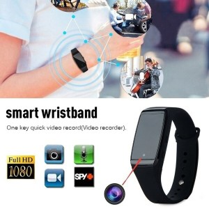 1080P Home Security HD Spy Wrist Watch Video Hidden Spy Mini Camera Motion Detection DVR Recording W