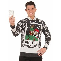 (フォーラム) (クリスマス セーター) Forum Men s Ugly Christmas Sweater Elfie-77722/23/24  polo