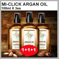 [MI-CLICK] MICLICK ARGAN HAIR OIL 100ml x3ea/ MICLICK ARGAN SILK RECOVERY CARE/ FREE pouch 3ea/