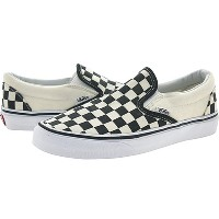 [VN-0EYEBWW] VANS CLASSIC SLIP-ON BLACK AND WHITE CHECKER/WHITE