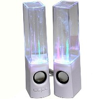 KevenAnna Bluetooth Colorful LED Fountain Dancing Water Speakers for iPhone iPad Cellphone PC (White