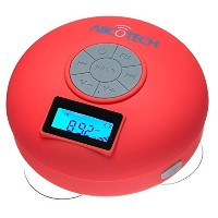 Bluetooth Speaker with LCD Display, NFC, FM Radio and Subwoofer Effect- Shower Speaker with Crystal