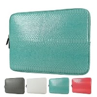 Hot Snake Skin Leather Sleeve Case 12,13,14,15,15.6 inch Laptop Bag 13.3&quot ,For MacBook Notebook...