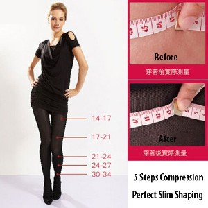 K216 360 Den Medical Compression Varis Beauty Leg Slim Shaper Pantyhose