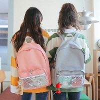 [Sonyunara] Your Day Backpack Mash Pocket Color Casual Bag Your Day Backpack