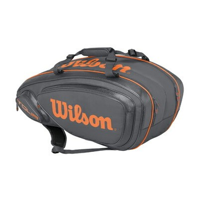ウイルソン(Wilson)テニスバッグ TOUR V 9 PACK Grey / Orange WRZ847409