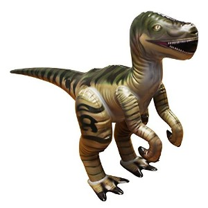 "【Jet Creations 14 "" H x 7 "" w x 14 "" L Inflatable Velociraptor Jr。Largeインフレータブル恐竜の動物Iindoor Toys..."