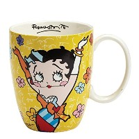 High Quality Betty Boop by Britto Yellow Mug, 4.25, Multicolor