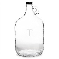 High Qualityersonalized One Gallon Growler, Letter T