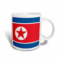 3dローズInspirationzStoreフラグ – Flag of North Korea。韓国ブルーレッドホワイトスター民主Peoples Republic of Korea...