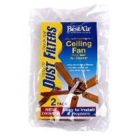 High Quality CF2, Ceiling Fan Dust Filter, 7.6 x 1.2 x 4.4, 6 pack