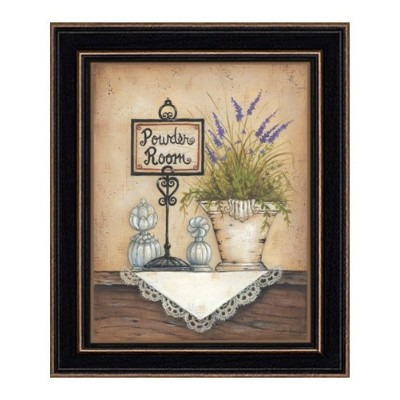 High Quality Mary 334 Powder Room, Eight by Ten Inch Rustic Hardwood Shaker Framed Print by Mary...