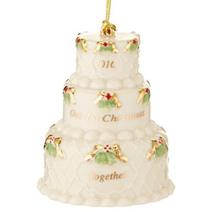 High Quality 2016 Our First Christmas Together Cake Ornament