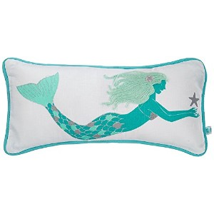 High Quality Embroidered Mermaid Accent pillow