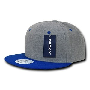 Decky 1087-ASHRYL Melton Crown Snapbacks, Ash & Royal